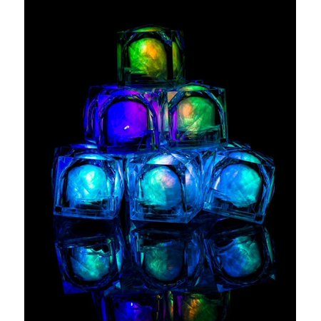 AC966 LED Light Up Blinky Ice Cubes - Multicolor - 12ct, Freezable LED Ice Cube. 100% brand new and high quality Fake Ice Cubes. BUY WITH.., By Fun Central