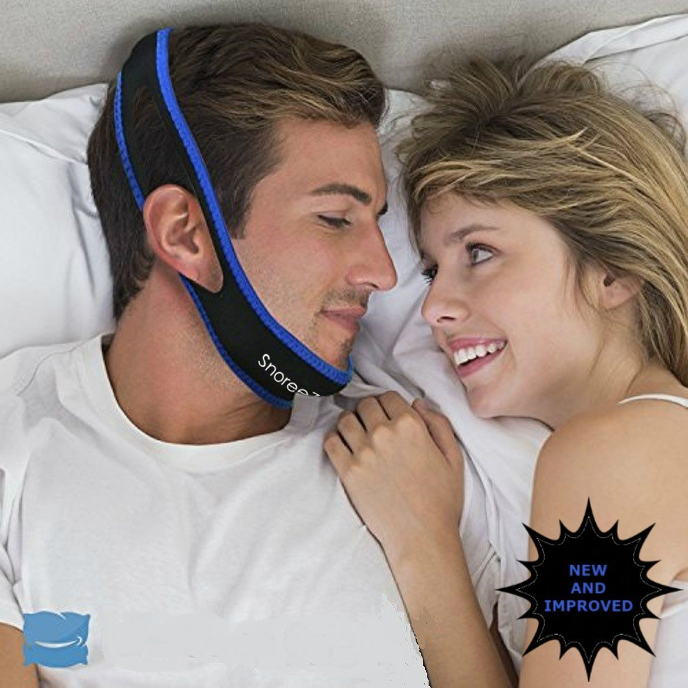 Snoreez Anti Snore Chin Strap – Adjustable Anti Snoring Guard With Instant Snoring Relief - Natural Snore Stopper – NEW AND IMPROVED VERSION