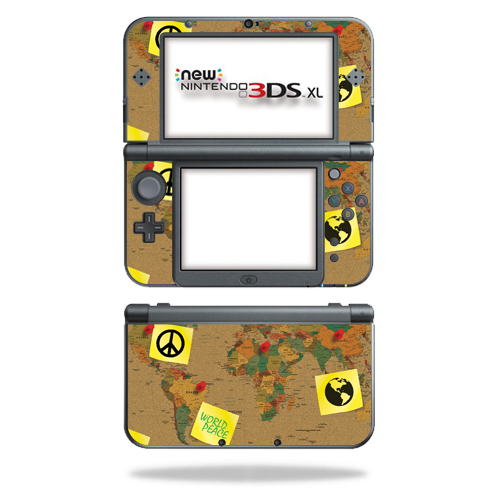MightySkins Protective Vinyl Skin Decal for New Nintendo 3DS XL (2015) Case wrap cover sticker skins World Peace