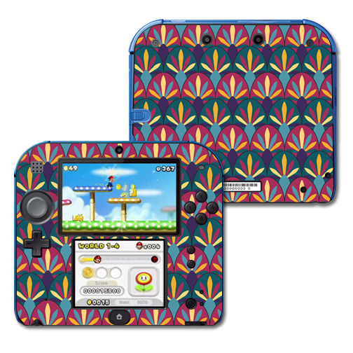 Mightyskins Protective Vinyl Skin Decal Cover for Nintendo 2DS wrap sticker skins Bold Tile