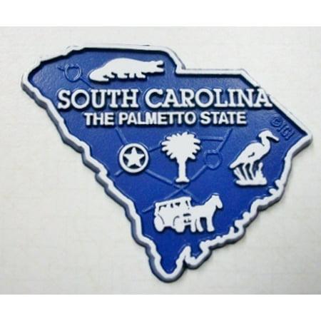 South Carolina The Palmetto State Map Fridge Magnet