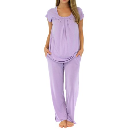PajamaMania Women's Sleepwear Short Sleeve Pajamas PJ Set - Pj & Me