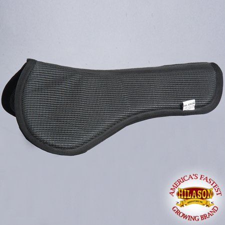 Hilason Black Wither Relief Fitter Anti-Slip Memory Foam Saddle Pad ()