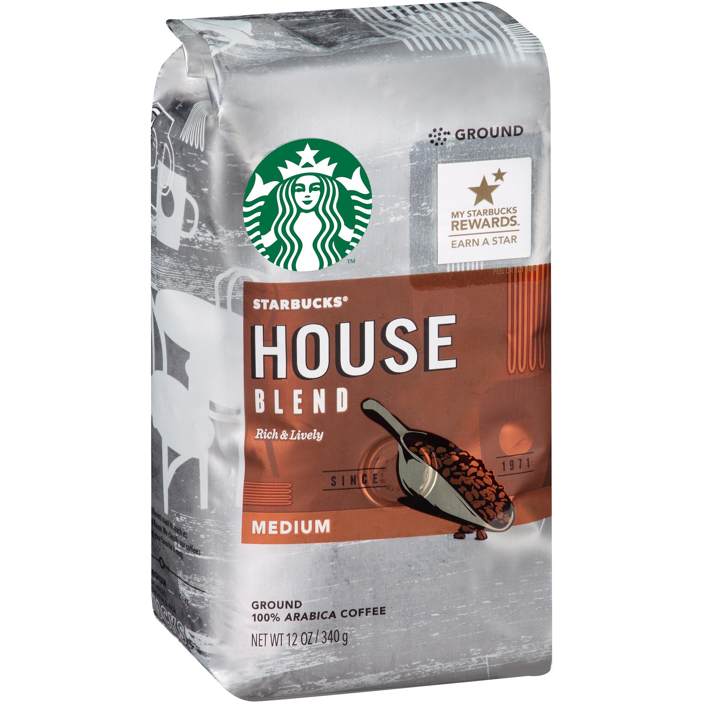 Starbucks House Blend Medium Ground 100% Arabica Coffee, 12 oz