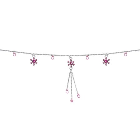 Pink Flower Belly Chain