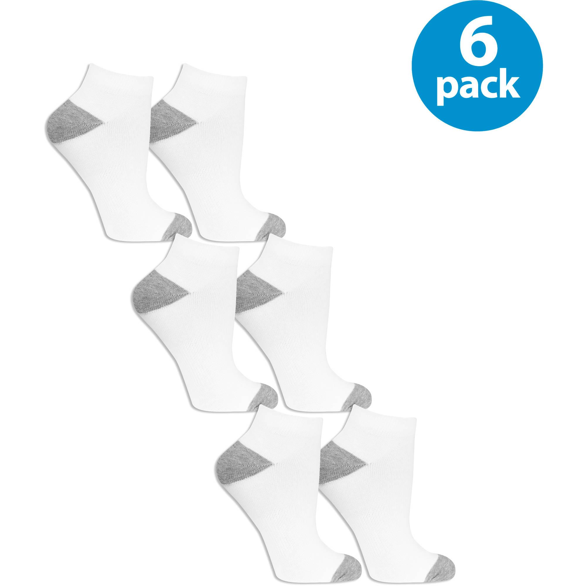 Fruit of the Loom Womens Value Pack Low Cut Socks, 6 Pairs