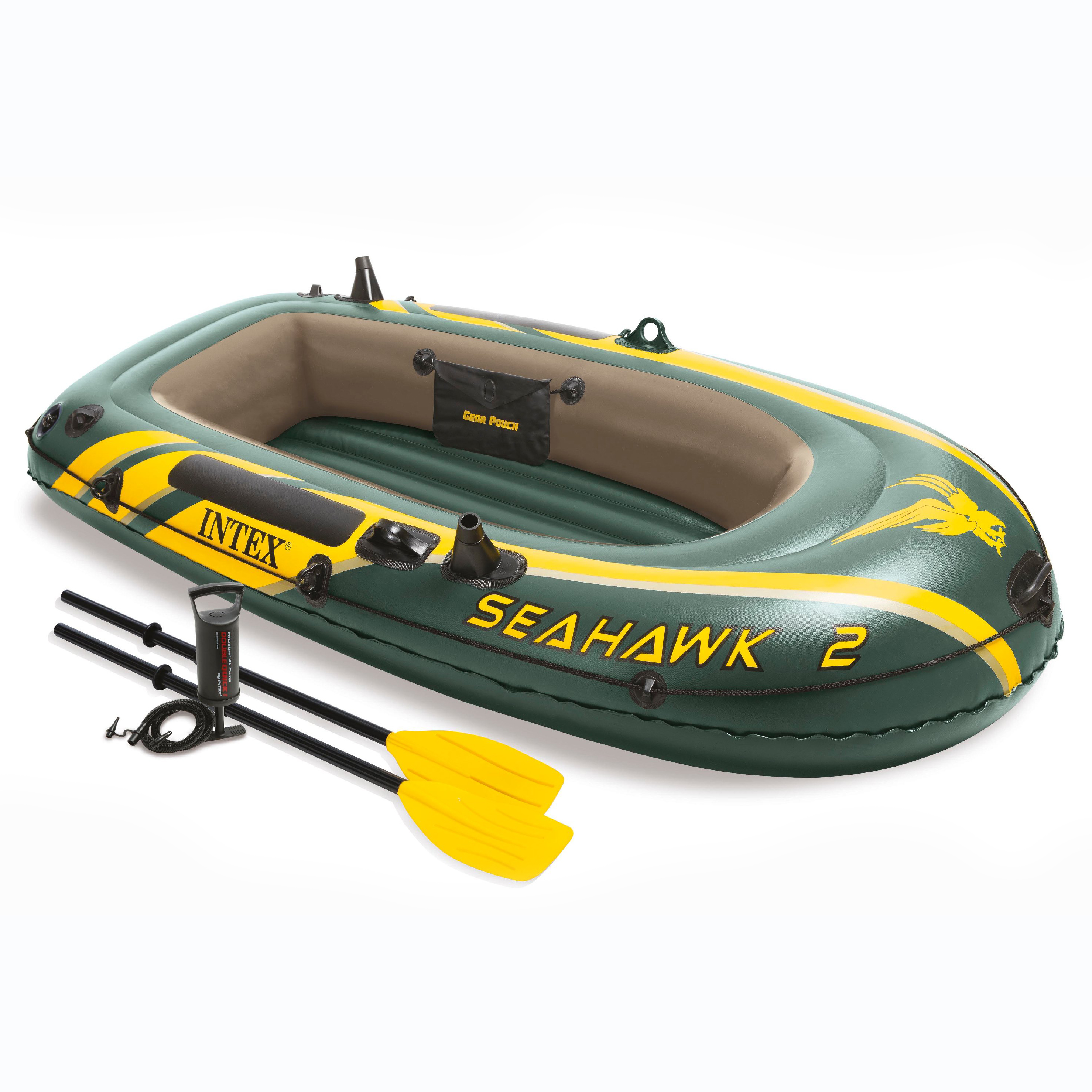 Intex Inflatable Seahawk 2 Two-Person Boat with Oars and Pump