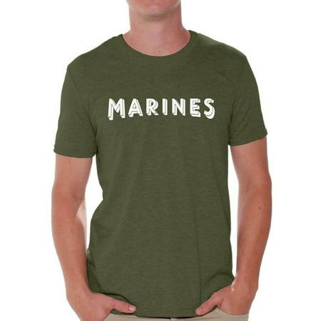 Navy Marine Corps Memorial - Awkward Styles Marines Shirt for Men Military Gifts for Him Marines T Shirt Marines Training Tshirt for Men Workout Clothes Military Shirt