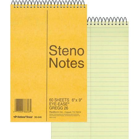 - Rediform, RED36646, Wirebound Steno Notebook, 1 Each