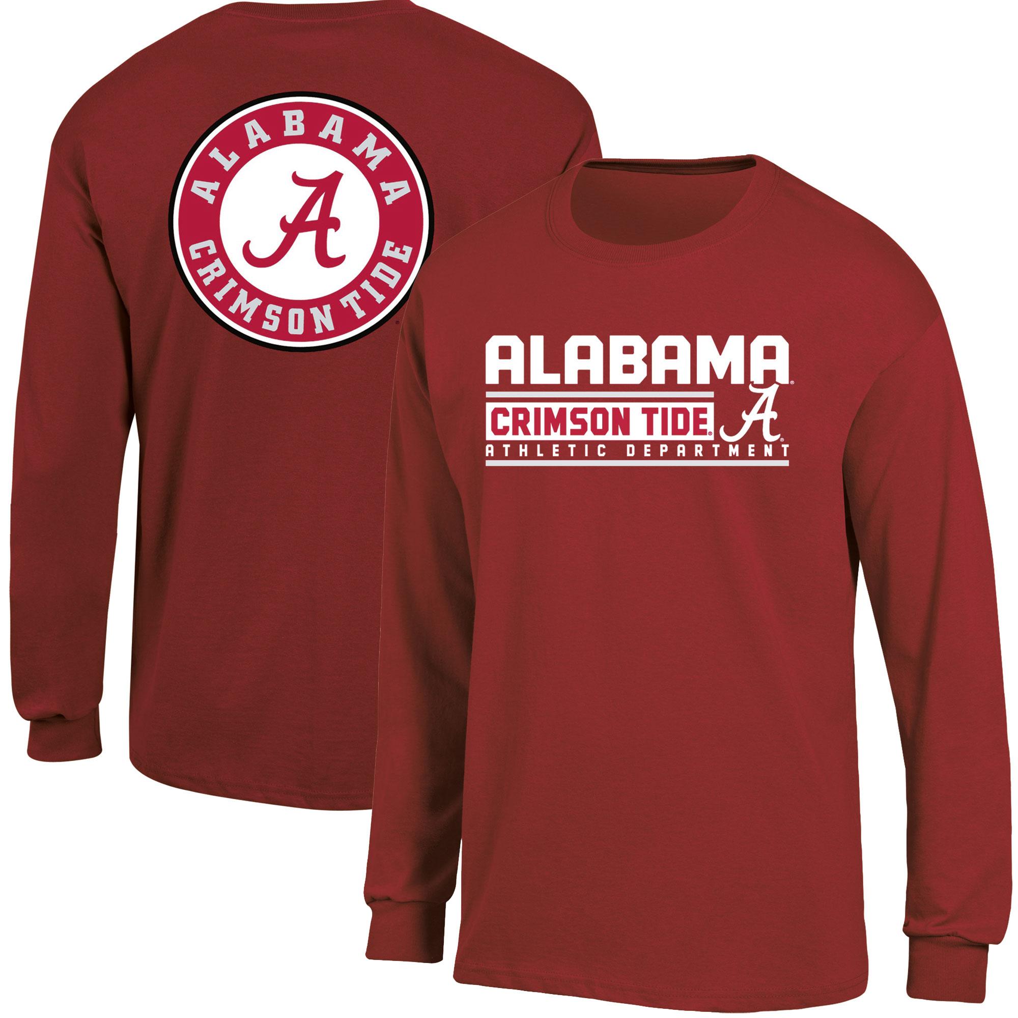 Men's Russell Crimson Alabama Crimson Tide Back Hit Long Sleeve T-Shirt