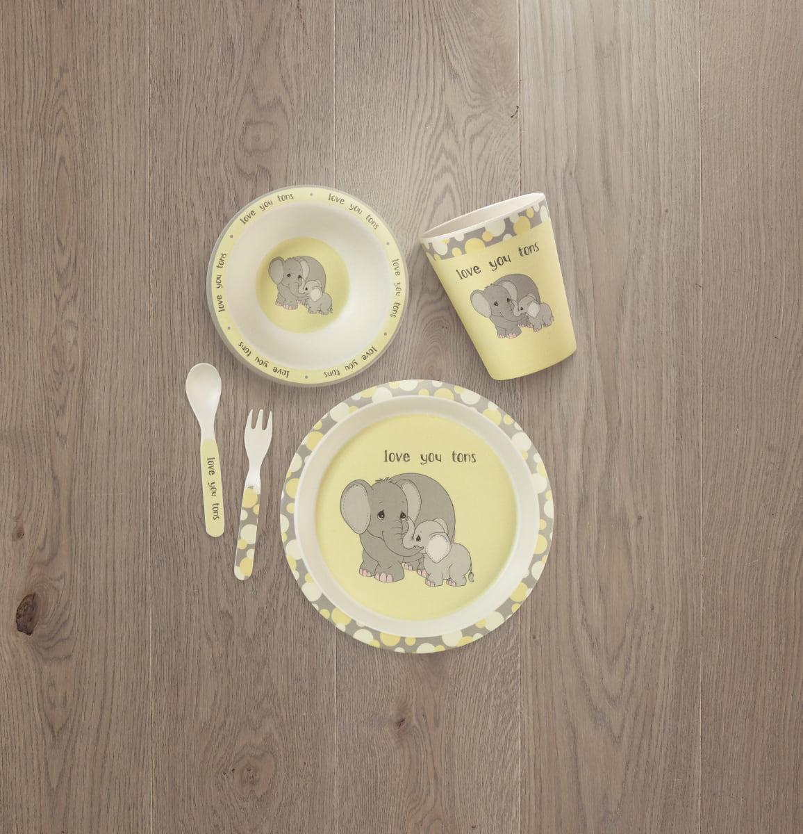 Precious Moments 182418 Mealtime Elephant Gift Set