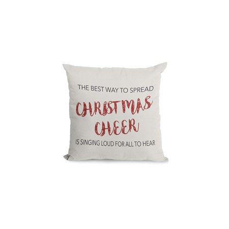 Bonnie Jeans Homestead Prints Best Way to Spread Christmas Cheer Pillow Cover (Oatmeal, (Best Oatmeal Soap Recipe)