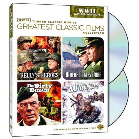 TCM Greatest Classic Films: World War II: Battlefront Europe - Kelly's Heroes / The Dirty Dozen / Where Eagles Dare / Battleground
