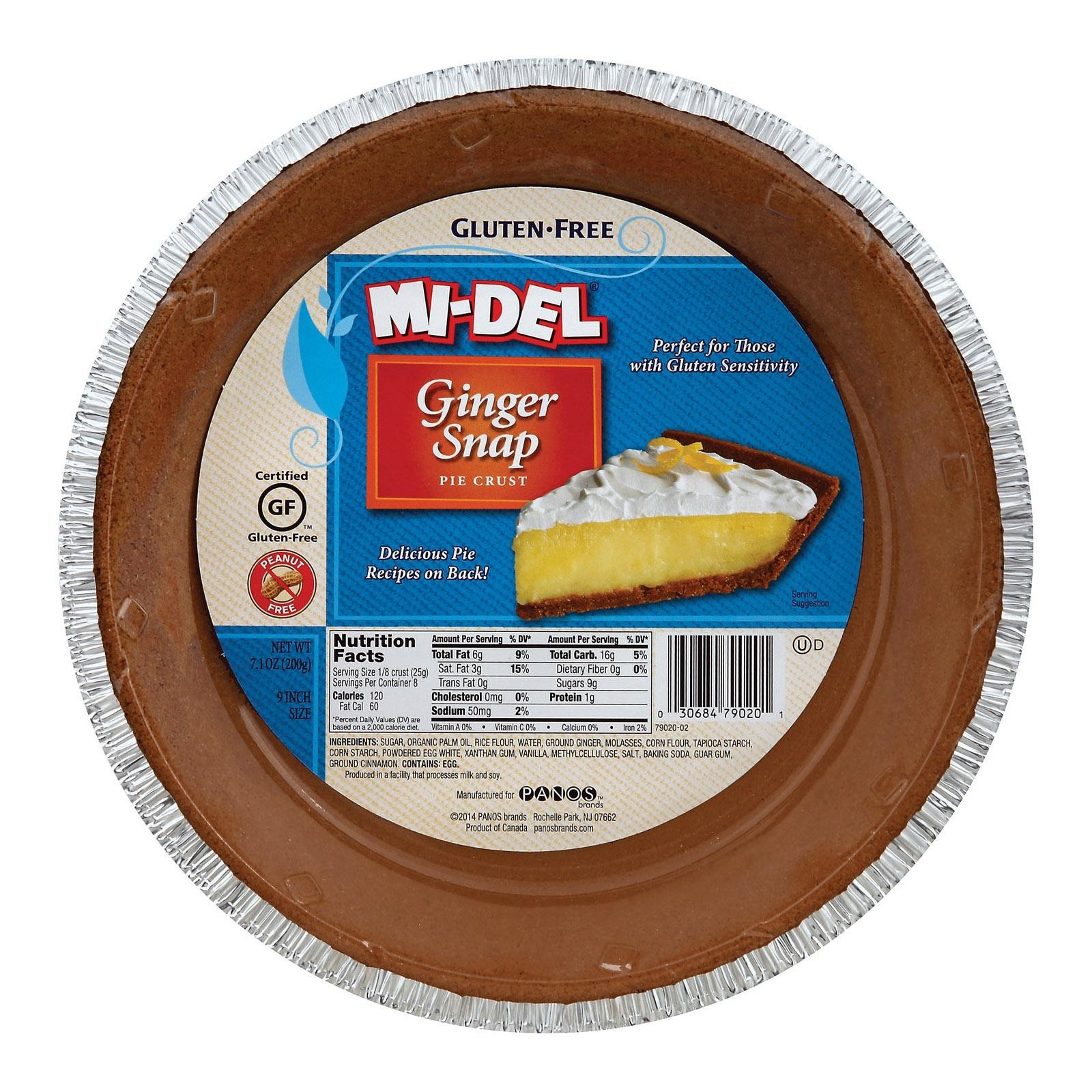 Midel Gluten Free Ginger Snaps - Pie Crust - pack of 12 - 7.1 Oz.
