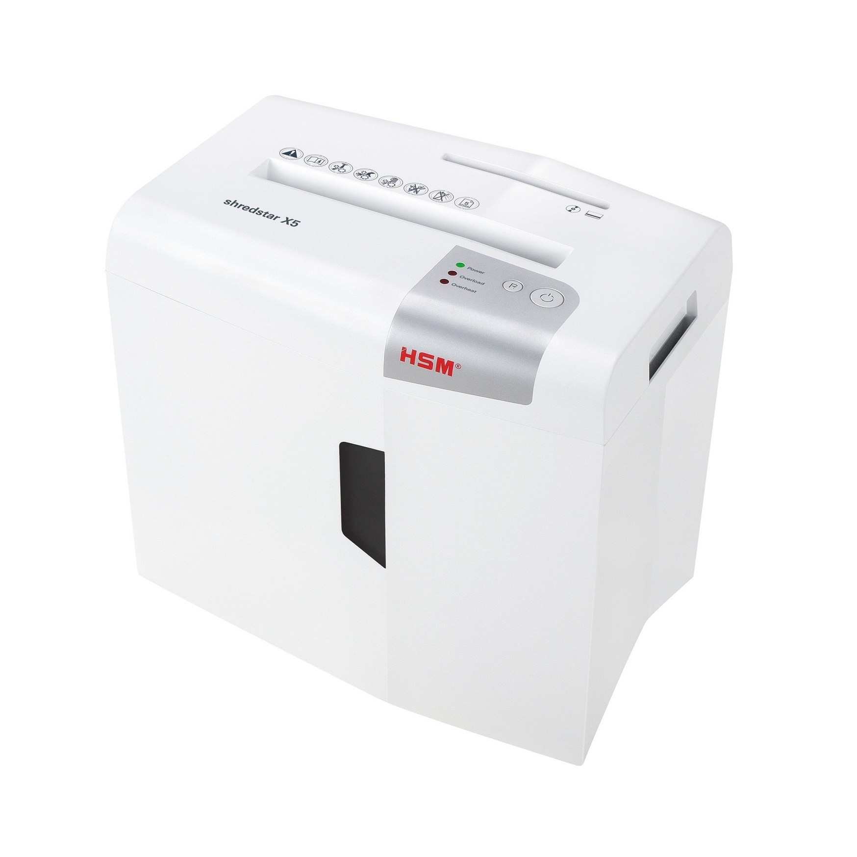 HSM of America HSM shredstar X5 Cross-Cut Shredder; shreds up to 5 sheets; 4.8-gallon capacity