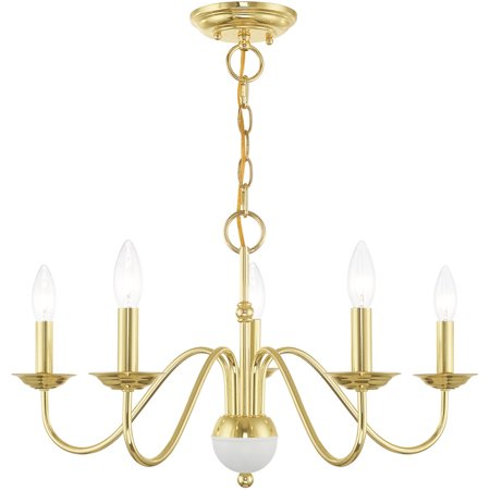 Brass Light Fixture (Chandeliers 5 Light Fixtures With Polished Brass Finish Steel Material Candelabra 13