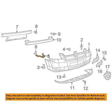 Dodge CHRYSLER OEM Front Bumper-Cover Retainer Clip or Bracket Left 5113223AA