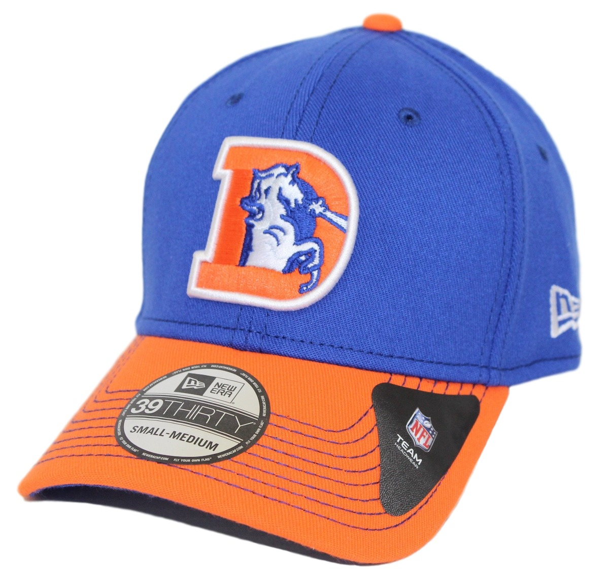 "Denver Broncos New Era NFL 39THIRTY ""Historic"" Throwback Flex Fit Hat - 2 Tone"