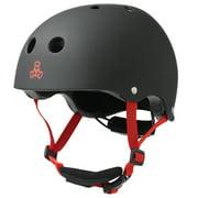 Triple 8 Lil 8 Dual Certified Black Rubber Toddler Bike & Skate Helmet, 5T