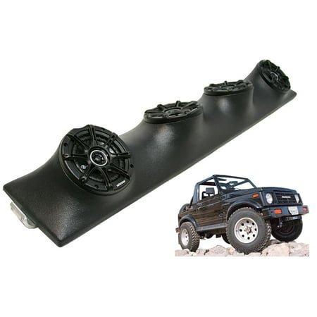 Suzuki Samurai Kicker DSC5 5.25 Inch Sound Bar Speakers System Black Finish