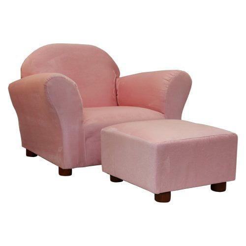 Keet Roundy Microsuede Kids' Novelty Chair & Ottoman Set