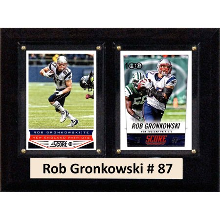C Collectables Nfl 6X8 Rob Gronkowski New England Patriots 2 Card Plaque