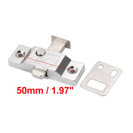 24mm Tongue Zinc Alloy Spring Bolt Latch Door Window Lock w Flat Plate 2pcs - image 4 of 5