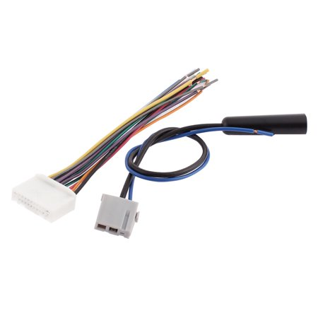 Unique Bargains Car Audio Stereo Wiring Harness Adapter Plug Set For Nissan Tiida