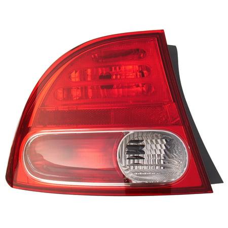 Tail Light Rear Back Lamp for 06-08 Honda Civic Sedan/Hybrid Driver Left