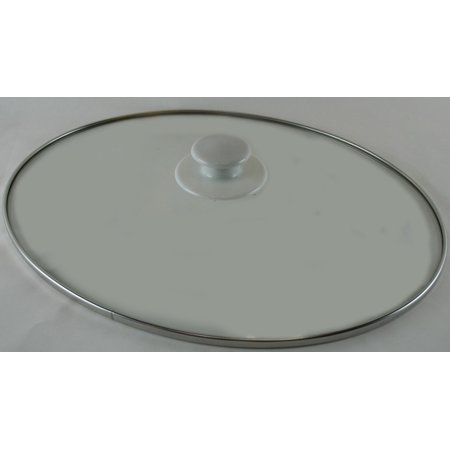 Hose Pot Lid (Replacement Oval Slow Cooker Glass Lid Crock Pot Lid Rival SCVP609-KLS)