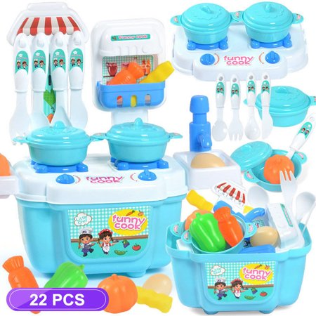 Childs Tableware Set Toys (1 Set Children Girl Toy Role Play Mini Simulation Kitchenware Tableware Cookware )