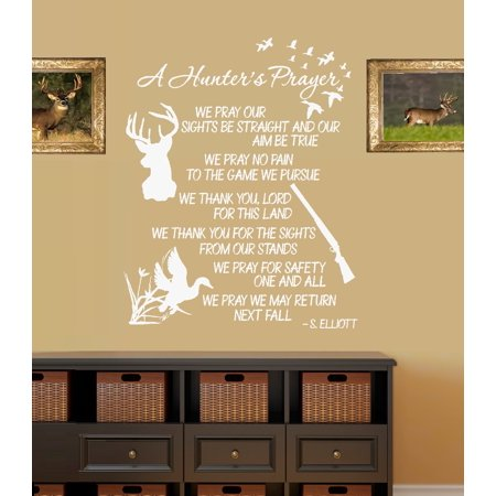 A Hunters Prayer Wall Decal: 20