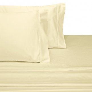 USA Maine Made CinchFit SPLIT FLEX HEAD KING Adjustable Bed Sheet Set 600TC    Ivory