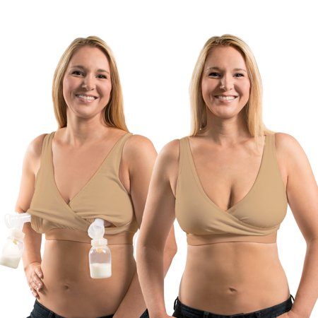 Rumina'S Pump&Nurse Relaxed All-In-One Nursing Bra For Maternity, Nursing With Built In Hands-Free Pumping Bra (Hands Free Pumping Bra)