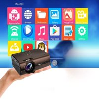 Projector, Excelvan Video Projector 2000Lux, 1080P LCD Projector, LED Home Theater Projector Support BT4.0 With Smartphone Tablet Many Interfaces USB VGA SD HDMI For PC Laptop Game Console DVD