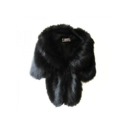 Leopard Shrug (Nicesee Women Winter Warm Faux Fox Fur Shawl Stole)