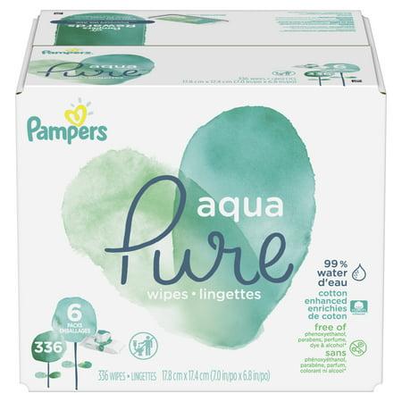 Pampers Aqua Pure Sensitive Baby Wipes 6X Pop-Top 336 Count