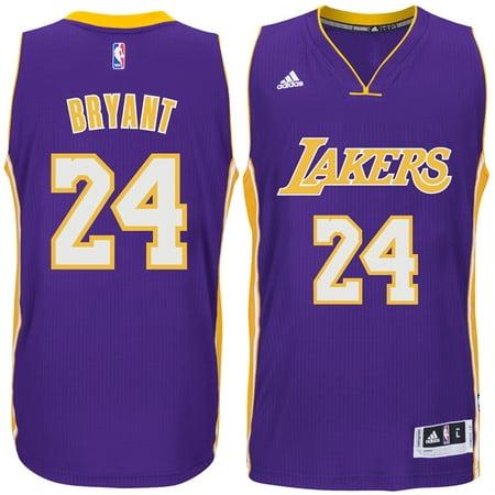 Adidas Los Angeles LA Lakers Kobe Bryant #24 Purple Road Adult ...