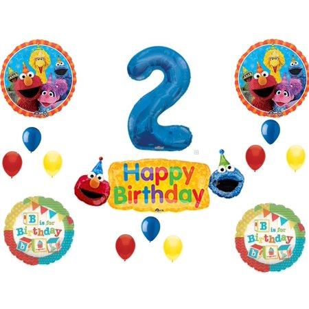 Sesame Street 2nd Banner B is For Birthday Party Balloons Decoration Supplies](Sesame Street Birthday Banner)