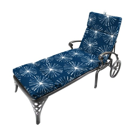 Jordan Manufacturing French Edge Outdoor Chaise Lounge Cushion - Sparks (Jordan French Blue 7)