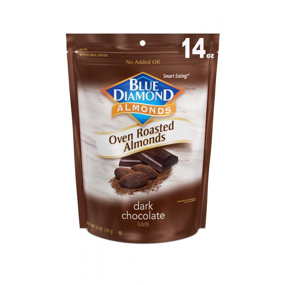 Blue Diamond Almonds Oven Roasted Dark Chocolate Almonds, 14 Oz.