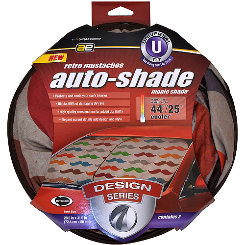Auto Expressions Mustache Magic Shade Windshield Shade