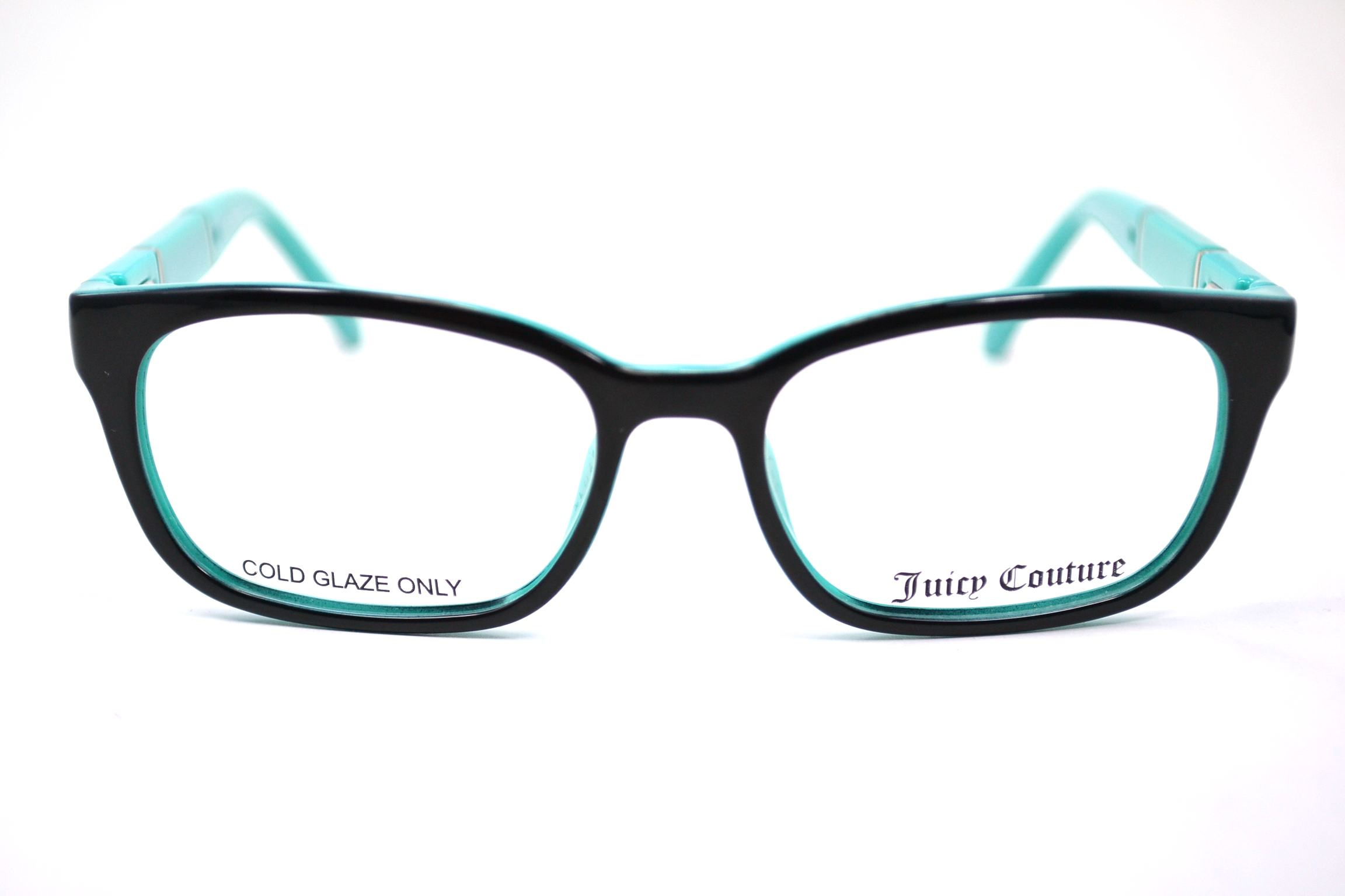 f9c22f5acd JUICY COUTURE Eyeglasses 904 0DH4 Black Teal 47MM - Walmart.com