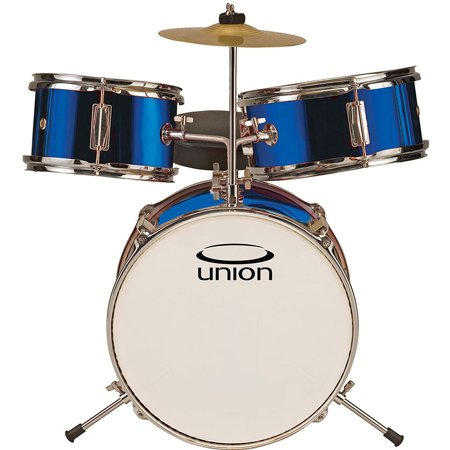 union ut3 3 piece toy drum set w cymbal throne metallic dark blue. Black Bedroom Furniture Sets. Home Design Ideas