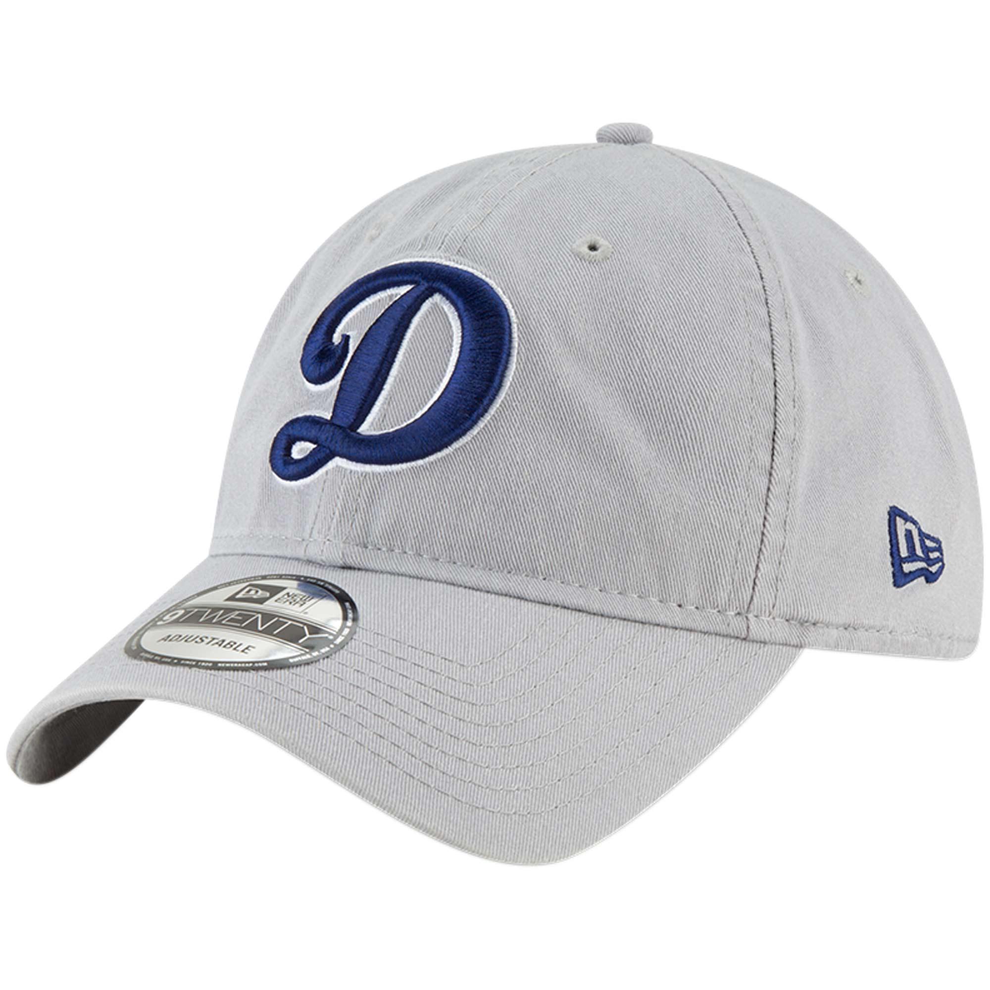 Los Angeles Dodgers New Era Core Classic OTC 9TWENTY Adjustable Hat - Gray - OSFA