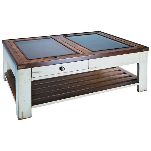 Authentic Models Gallery Shadow Box Coffee Table-Ivory