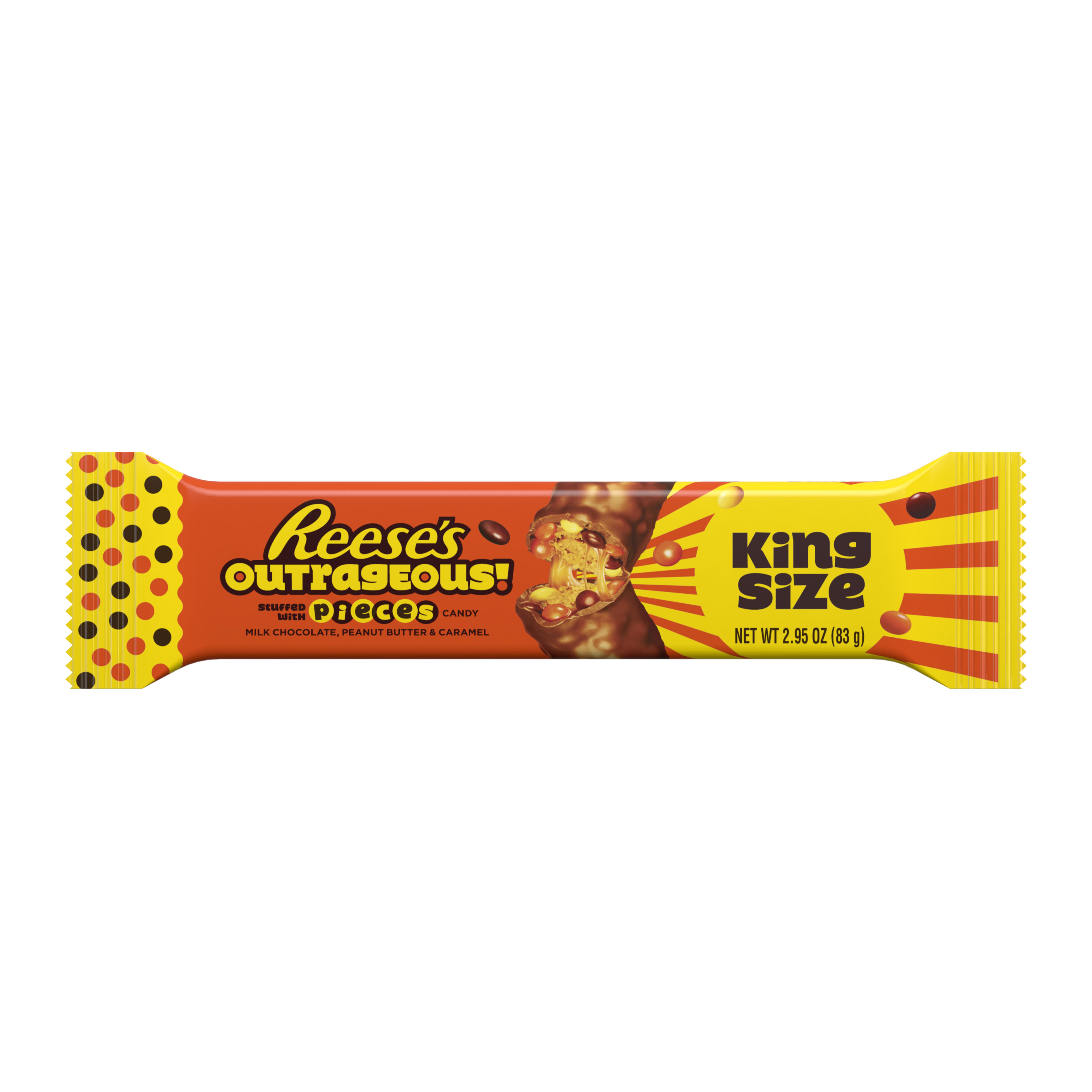 Reese's Outrageous King Size Stuffed With Pieces Candy - 2.95oz