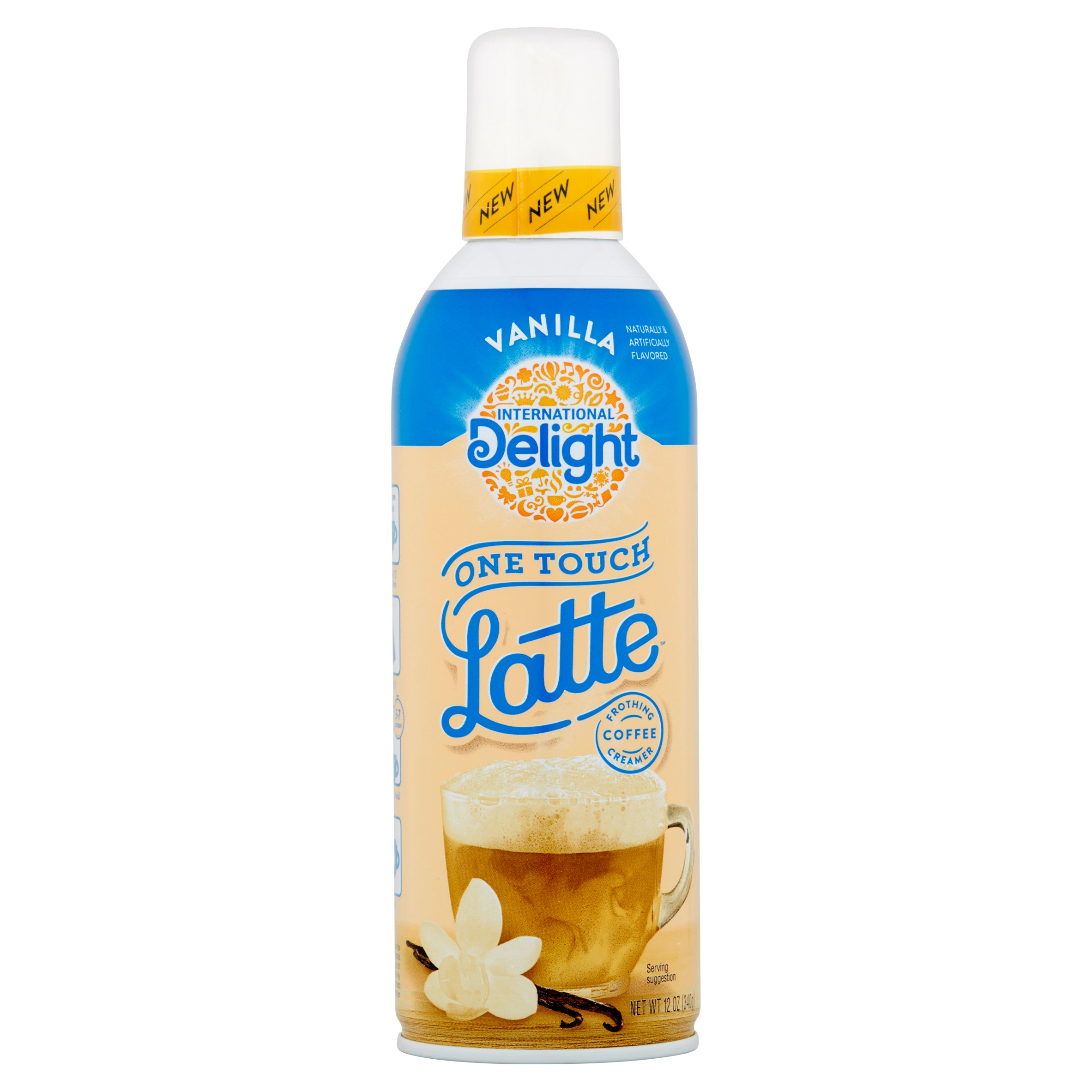International Delight One Touch Latte Vanilla Frothing Coffee Creamer, 12 Oz.