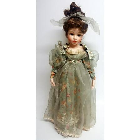 - Franklin Mint Fine Porcelain Fair Maiden Doll 21
