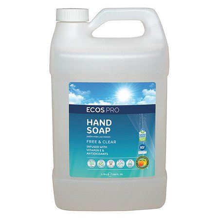 ECOS PRO Liquid Hand Soap,Unscented,1 gal., (Best Unscented Hand Soap)